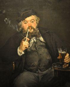 Edouard Manet - Le Bon Bock, 1873 at the Museum of Art Philadelphia PA | Flickr - Photo Sharing!
