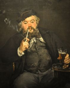 Edouard Manet - Le Bon Bock, 1873 at the Museum of Art Philadelphia PA   Flickr - Photo Sharing!