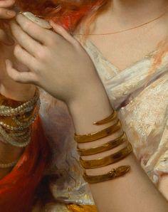 """detailsofpaintings: """" Joseph Coomans, The Amulet (detail) 1882 """""""