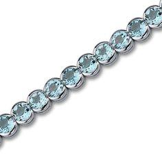 Peora.com - 19 cts Round Cut Swiss Blue Topaz Sterling Silver Bracelet SB2752, $139.99 (http://www.peora.com/elegant-19-00-carats-total-weight-round-cut-swiss-blue-topaz-gemstone-tennis-bracelet-in-sterling-silver-style-sb2752/)