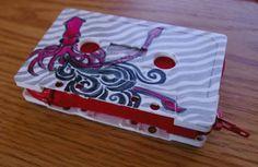 cassette tape wallet zippered