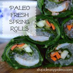 Paleo Fresh Spring Rolls http://stupideasypaleo.com/2013/06/24/paleo-fresh-spring-rolls/