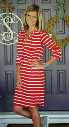 Stitch Fix LA MADE Ida Striped Shirt Dress - perfect nautical dress!