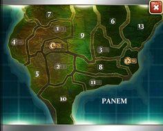 Map of Panem (one w/ all graphics revealed: http://i34.photobucket.com/albums/d136/chasethestars_/The%20Hunger%20Games/Hunger%20Games%20Adventures%20screenshots/map.jpg)