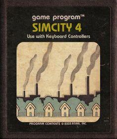 Modern Video Game Imagined As Atari Cartridges #SimCity 4 Game Program