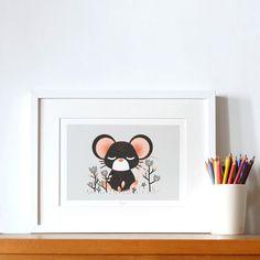 Poster A4 Les Animignons la souris (personnalisable)