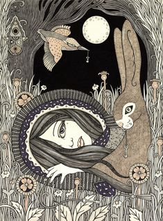 Anita Inverarity   INK on illustration board