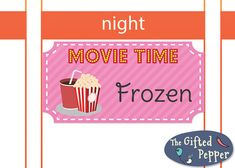 Its movie time! This planner sticker is one cute way to keep track of what movie you have watched and when. This listing offers a pdf file with