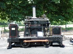 """De Winton vertical boilered locomotive """"Chaloner"""" of 1877. Pages Park, Leighton…"""