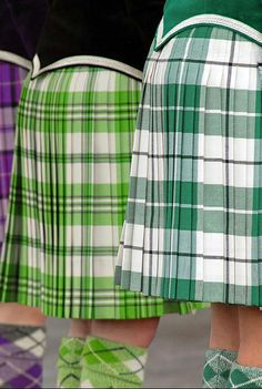 On the left - kilt with black jacket from the back from the waist down #scott #green #tartan