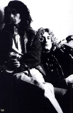 #RobertPlant and Jimmy Page, c. 1973.