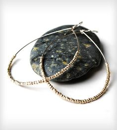 Silver Teardrop Hoop Earrings by House of Stonez on Scoutmob Shoppe