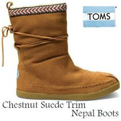 ba4d1438745 NEW from TOMS Shoes - Chestnut Suede Trim Women s Nepal Boots Toms Boots