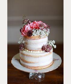 10 Sensational Semi-Naked Wedding Cakes ~ we ❤ this! moncheribridals.com