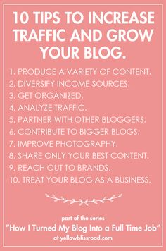 How I Turned My Blog Into a Full Time Job, Part 2 - Yellow Bliss Road