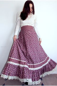 Calico Maxi skirt