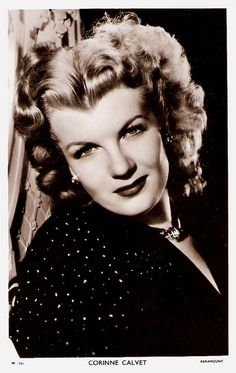 """""""Alluring French leading lady Corinne Calvet - made a big splash in Hollywood in the early with her sultry looks and her highly publicized legal battles. Old Hollywood Stars, Hooray For Hollywood, Old Hollywood Glamour, Golden Age Of Hollywood, Vintage Hollywood, Classic Hollywood, Classic Actresses, Actors & Actresses, Classic Beauty"""