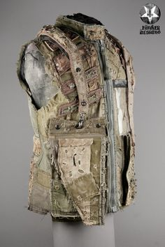 Image of Junker Designs Mens Napalm Vest / men's fashion / men's cosplay / post apocalyptic / wasteland / dystopia / details / texture / layers