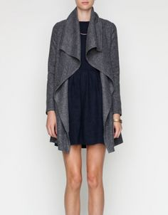 draped wool jacket!  can we find this in burgundy??? love it.  remember to join us @fashionwhistle.com