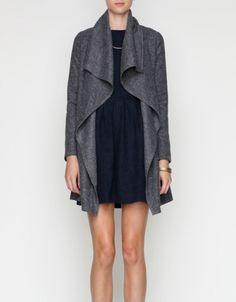 ++ draped wool jacket