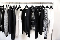 black white fashion