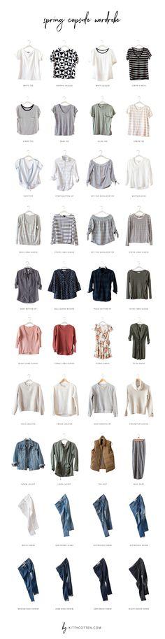 Spring Capsule Wardrobe 2017 | Kitty Cotten