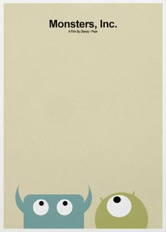 minimalist movie poster. Monsters, Inc.