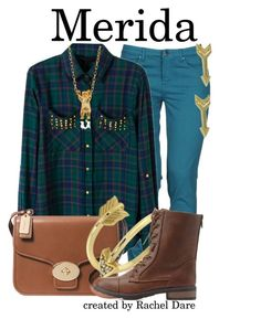 """Merida//Brave//Rachel Dare"" by fandom-girls ❤ liked on Polyvore featuring Caractère, Coach, Allurez, Charlotte Russe, momocreatura, Jewel Exclusive and tallysfanbounds"