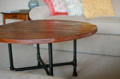 Handmade Rustic Wood Coffee Table on BourbonandBoots.com #furniture #rustic #handmade