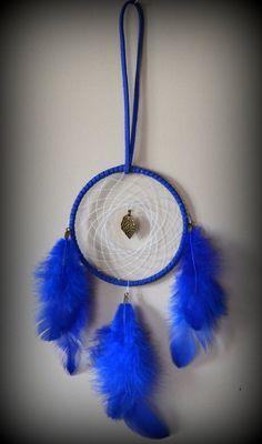 3'' Royal Blue Dream Catcher with Blue by DreamySummerNights, $7.00