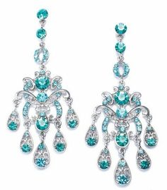 Antique Aquamarine Chandelier Earrings Ok Totally Too Extravagant Unless I Was Going To A Ball But Prrrrrrrr Lol Fancy Lobes Pinterest