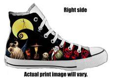 The Nightmare Before Christmas Custom Converse All Stars by ArkhamKicks