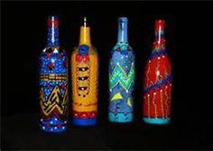 Painted Wine Bottles - Bing Images