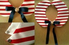 Sailor style detachable collar
