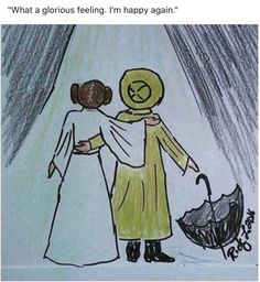 """What a glorious feeling. I'm happy again."" Fan art after Carrie Fisher and Debbie Reynolds death"