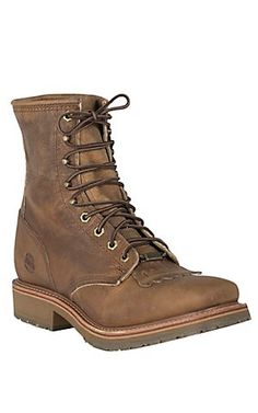 Double H ICE Collection Men's Folklore Brown Square Steel Toe Lace-Up Work Boot | Cavender's
