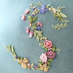 Ribbon embroidery by K-Lee