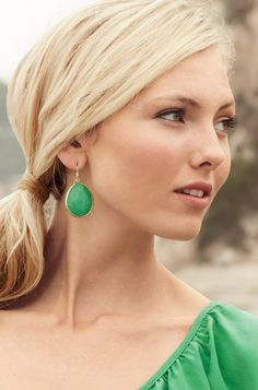 Been on the hunt for green earrings and these are perfect.