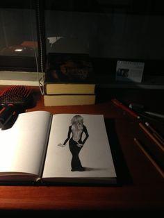 Backless dress 3D draw sketch