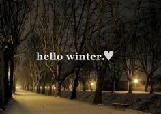 Bem vindo Inverno!
