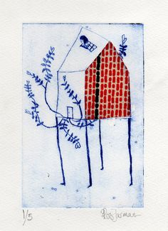 'Untitled' Intaglio with chine-colle. Cornish Beard Design