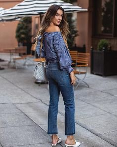 Today on #whowhatwear I'm sharing a BTS interview and why I'm loving my #FRAME denim