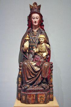 Virgen románica. Mare de Déu amb el Nen. 1260-1280 Treviana (La Rioja). Museo Frederic Marés