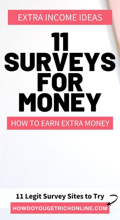 11 Trustworthy Survey Sites to Make Extra Money (Ultimate Guide) Best Online Survey Sites, Survey Websites, Online Surveys That Pay, Survey Sites That Pay, Surveys For Money, Paid Surveys, Cash From Home, Work From Home Jobs, Earn Extra Cash