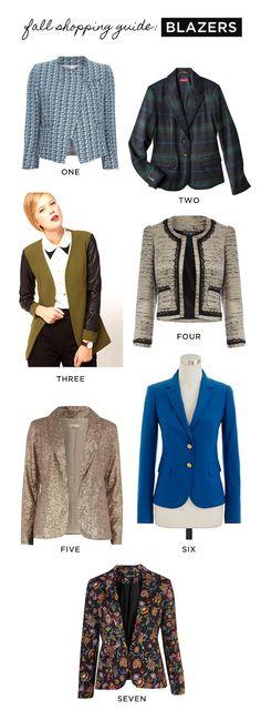 Fall Shopping Guide: Blazers