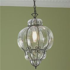 Wire-wrapped pendant #kitchen #kitchenlighting