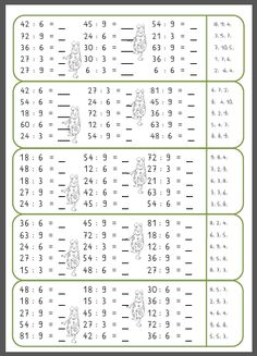 Mompitziges 3 minutes training multiplication and division - Mompitz - Math Tutor, Math Literacy, Preschool Worksheets, Math Activities, Math Multiplication, Math Practices, Math Workshop, 3rd Grade Math, Elementary Science