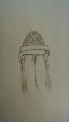 New Drawing Pencil Sad Art 18 Ideas Easy Pencil Drawings, Pencil Sketch Drawing, Sad Drawings, Cool Art Drawings, Art Drawings Sketches, Beautiful Drawings, Drawing Art, Drawing Poses, Easy Drawings Of Girls