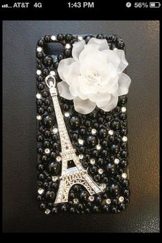 eiffel tower phone case by iDazzleyou on Etsy, $29.00  ..................................................................LOVE !!!!