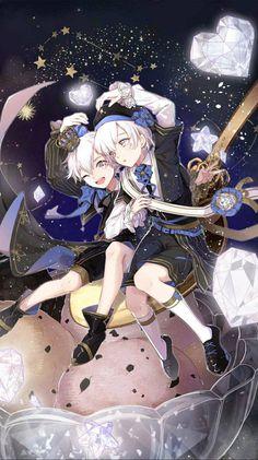 Cute Anime Pics, Cute Anime Boy, Anime Art Girl, Anime Love, Anime Guys, Manga Anime, Anime Sisters, Anime Siblings, Game Character Design